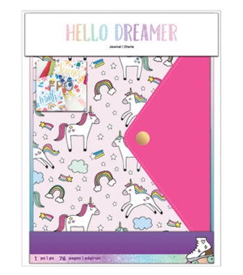American Crafts Hello Dreamer Journal-Unicorn