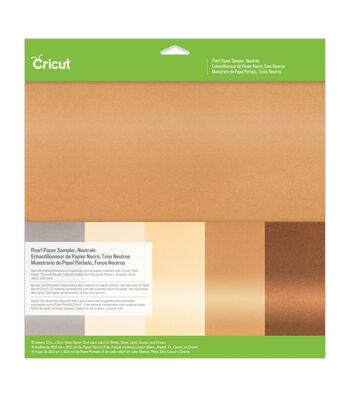 Cricut 12''x12'' Pearl Paper Sampler-Neutrals