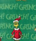Holiday Fleece Fabric 60\u0022-Grinch on Green