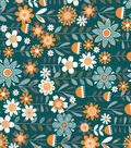 Quilter\u0027s Showcase Cotton Fabric 44\u0022-Deep Lake Linear Floral