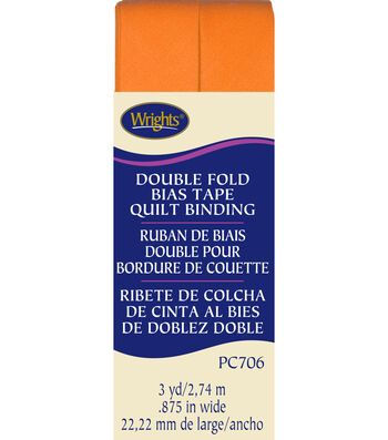 Double Fold Quilt Bndng 3yd Orange Peel