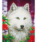 Diamond Embroidery Facet Art Kit 23\u0022X19\u0022-White Wolf