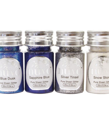 Nuvo Pure Sheen Glitter 4/Pkg-Let It Snow