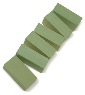 "Floracraft 2-5/8""x3-1/2""x7-7/8"" Floral Foam Blocks-6PK/Green"