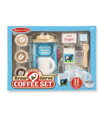 Melissa & Doug Wooden Brew Serve Coffee Set