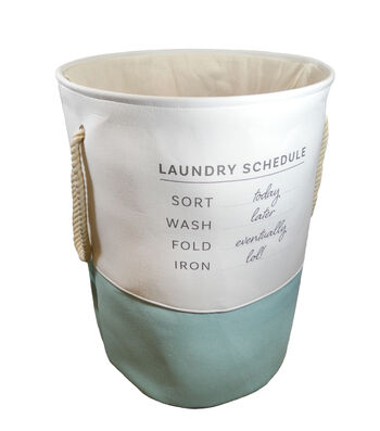 Large Round Fabric Hamper-Laundry Schedule