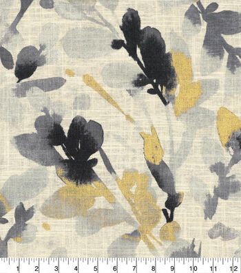 Waverly Upholstery Fabric 54''-Leaf Storm Graphite
