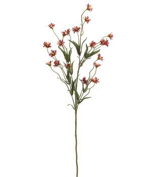 "Bloom Room 29"" Wild Daisy Spray x5 with 20 Flw.&13 Sets of Lvs.-Brick"