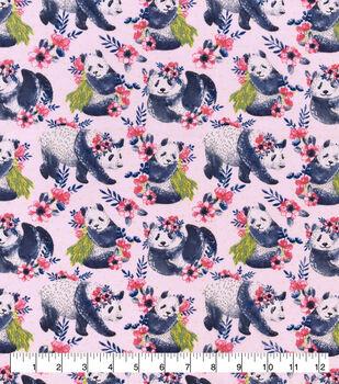 Snuggle Flannel Fabric-Floral Panda