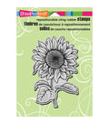 Stampendous Cling Rubber Stamp 5.5\u0022X4.5\u0022 Sheet-Sweet Sunflower
