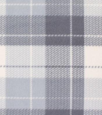 Blizzard Fleece Fabric 59''-Gray Dakota Plaid