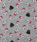 Disney Star Wars Christmas Knit Fabric-Santa Hats