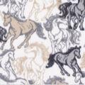 Blizzard Fleece Fabric-Wild Horses Running