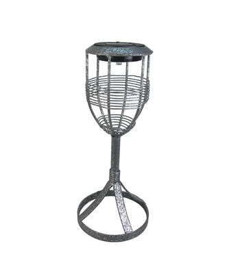 Americana Solar Yard Light-Silver