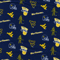West Virginia University Mountaineers Cotton Fabric -Blue