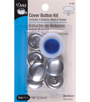 Dritz 1.5'' Aluminum Cover Button Kit Size 60