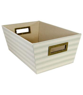 Small Laundry Storage Fabric Bin-Stripes