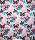 No Sew Fleece Throw Kit 72\u0027\u0027-Butterflies & Flowers
