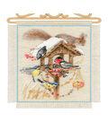 RIOLIS Counted Cross Stitch Kit 7.9\u0022X11.8\u0022-Cottage Garden In Winter