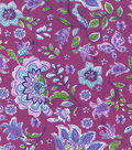 Keepsake Calico Cotton Fabric -Butterfly Floral on Purple