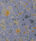 Homestead Crinkle Cotton Fabric-Blue Yellow Small Floral