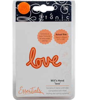 Tonic Studios Essentials Will's Hand Miniature Moments 2 pk Dies-Love