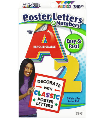 Classic Poster Letters And Numbers 330Ct