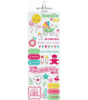Park Lane Paperie 29 pk Stickers-Multi Baby Girl, , hi-res