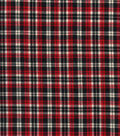 Homespun Cotton Fabric 44\u0022-Black & Red Crosshatch