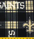 New Orleans Saints Fleece Fabric 58\u0022-Plaid