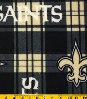 New Orleans Saints Fleece Fabric -Plaid, , hi-res