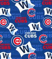 Chicago Cubs Cotton Fabric -Blue, , hi-res