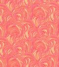Keepsake Calico Cotton Fabric-Harmony Coral Glitter Swirl