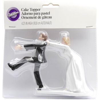 """Wilton 4.25""""x6.5"""" Humorous Wedding Cake Topper"""