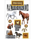 Paper House 10 pk 3D Stickers-Horsing Around