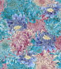 Asian Inspired Cotton Fabric 43\u0027\u0027-Metallic Packed Floral