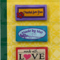 Dritz - Sew In Embroidered Labels - Made W Love