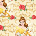 Disney Beauty & The Beast Cotton Fabric -Belle with Scrolls