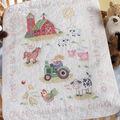 Bucilla On The Farm Crib Cover Stamped Cross Stitch Kit-34\u0022X43\u0022