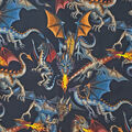 Novelty Cotton Fabric-Tales Of The Dragon