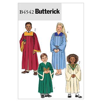 Butterick Pattern B4542 Children's Costumes-Size M-L