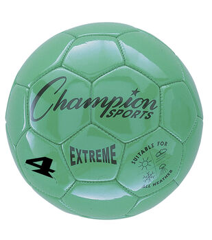 Champion Sports Extreme Size 4 Composite Soccer Ball-Green