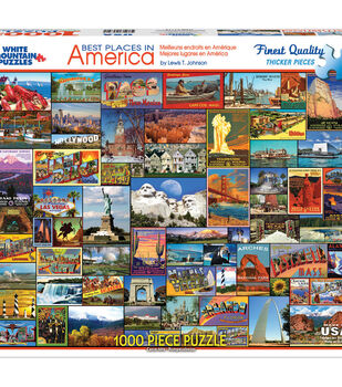 White Mountain Puzzles 1000 Pieces Jigsaw Puzzle-Best Places in America