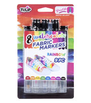 Tulip Watercolor Fabric Markers-Rainbow, , hi-res