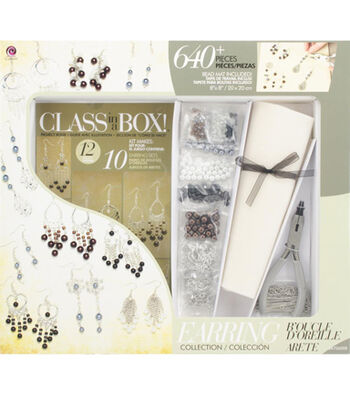 Cousin Jewelry Class In A Box Kit Silver Tone Earrings