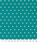 Quilters Showcase Cotton Fabric-Triangle Turq