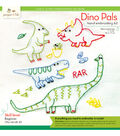 Penguin & Fish Sampler Hand Embroidery Kit-Dino Pals