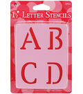 Plaid 43 pk 1.5\u0027\u0027 Stencils-Old School Letter