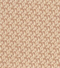Vintage Cotton Fabric 43\u0027\u0027-Brown Vine Scrolls