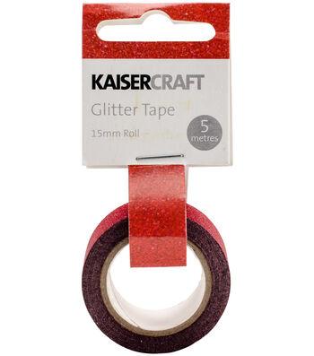 Kaisercraft 0.5''x16.5' Glitter Tape-Red